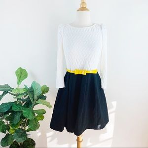 ASOS black and white belted mini dress